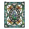 <strong>Design Toscano</strong> Dragonfly Floral Stained Glass Window