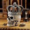 <strong>Design Toscano</strong> Crowned Skull Gothic Relic Box Figurine