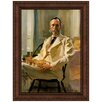 <strong>Design Toscano</strong> Man with Cat, 1898 by Cecilia Beaux Framed Painting Print