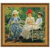 <strong>Design Toscano</strong> Three Sisters A Study in June Sunlight, 1890 by Edmund Charles Tarbell Framed Painting Print