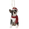 <strong>Design Toscano</strong> Boston Terrier Holiday Dog Ornament Sculpture