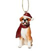 <strong>Boxer Holiday Dog Ornament Sculpture</strong> by Design Toscano