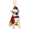 <strong>Design Toscano</strong> Bulldog Holiday Dog Ornament Sculpture