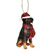 Design Toscano Doberman Holiday Dog Ornament Sculpture