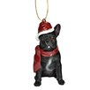 Design Toscano French Bulldog Holiday Dog Ornament Sculpture