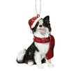 Design Toscano Border Collie Holiday Dog Ornament Sculpture