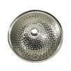 Whitehaus Collection Decorative Round Ball Pein Bathroom Sink