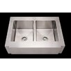 "<strong>Whitehaus Collection</strong> Noah's 36"" x 26.25"" Commercial Double Bowl Farmhouse Undermount Kitchen Sink"