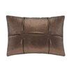 Madison Park Metallic Faux Leather Oblong Pillow