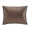 Madison Park Quilted Metallic Faux Leather Oblong Pillow