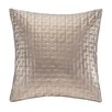 Madison Park Quilted Metallic Faux Leather Square Pillow