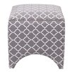Madison Park Rileigh Quatrefoil Fretwork Ottoman