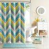 Intelligent Design Elise Microfiber Printed Shower Curtain