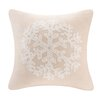Madison Park Snowflake Embroidered Square Pillow
