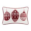 Madison Park Velvet Ornaments Oblong Pillow