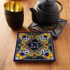 Native Trails, Inc. Moroccan Midnight Hand Painted Trivet (Set of 2)