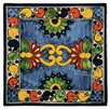 "Native Trails, Inc. 6"" x 6"" Asters Hand Painted Talavera Tile"