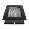 Royce Leather Genuine Leather Executive 6 Slot Fountain Pen Display Case