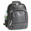 <strong>Royce Leather</strong> Deluxe Laptop Backpack in Black