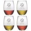 Susquehanna Glass Dog Wisdom Stemless Wine Glass (Set of 4)