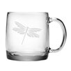 Susquehanna Glass Dragonfly Coffee Mug (Set of 4)