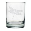 Susquehanna Glass Dragonfly Double Rock Glass (Set of 4)