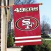 The Party Animal, Inc NFL Appliqué House Flag