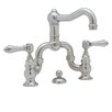 Rohl Country Double Handle Bridge Bathroom Faucet with Pop-Up Drain and Lever Handle