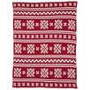 In2Green Eco Designer Fair Isle Throw Blanket