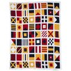 <strong>Eco Designer Nautical and Signal Flags Throw Blanket</strong> by In2Green
