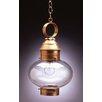 Northeast Lantern Onion Medium Base Socket No Cage 1 Light Hanging Lantern