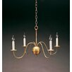 Northeast Lantern Chandelier  4 Light Candelabra Sockets S-Arms Hanging Chandelier