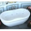 "Spa Escapes Luxury Suite Vivara 71"" x 34"" Air and Whirlpool Water Jetted Bathtub"