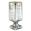 Barreveld International Glass Mercury Vase with Square Foot