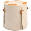 <strong>Barreveld International</strong> Chalet Wood Stool with Linen Cover