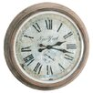 "Barreveld International 28"" Metal / Glass New York Clock"