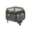 """Barreveld International Fall 3.8"""" Iron and Glass Hex Jewelry Box"""