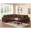Poundex Bobkona Leo Reversible Sectional Sofa