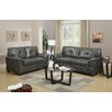 Poundex Bobkona Pacifica Sofa and Loveseat Set