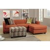 Poundex Bobkona Dayton Reversible Sectional