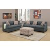 Poundex Bobkona Baldwin Sofa and Loveseat Set