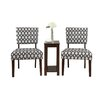 Poundex Bobkona 3 Piece Preston Side Chair and Table Set