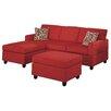 Poundex Bobkona Modular Sectional Sofa with Ottoman