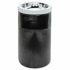 <strong>Rubbermaid Commercial Products</strong> Smoking Urn with Ashtray and Metal Liner, 19.5H x 12.5 Diameter, Black, 1 EA