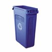 Slim Jim Recycling Container with Venting Channels, 23 Gal