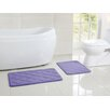 Victoria Classics Diamond Memory Foam Embossed Bath Mat