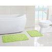 Victoria Classics Scroll Memory Foam Embossed Bath Mat