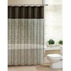 <strong>Laken Fabric Pieced Shower Curtain</strong> by Victoria Classics