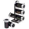 Zevro Zero Gravity 6 Canister Countertop Magnetic Spice Stand