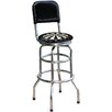 "Dart Board 30.5"" Chrome Swivel Barstool"